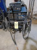 WELDING MACHINE, MILLER MDL. CP302 MIG WELDER, 300 amps @ 32 v., 100% duty cycle, Mdl. S22A wire
