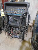 WELDING MACHINE, MILLER MDL. SYNCROWAVE 350LX TIG WELDER, 350 amps @ 40% duty cycle, running gear,