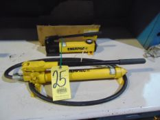 LOT OF HYDRAULIC HAND PUMPS (2), ENERPAC, assorted