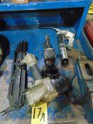 LOT CONSISTING OF: pneumatic nail gun, box stapler & grease gun