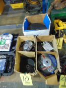 LOT OF GRINDING WHEELS, assorted (in five boxes)