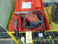 HAMMER DRILL, HILTI MDL. TE56, w/case & drill bits