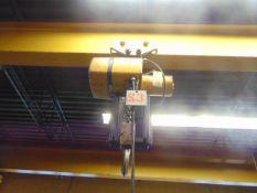 ELECTRIC CHAIN HOIST, YALE, 3 T. CAP., w/ trolley