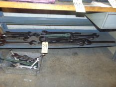 LOT OF WRENCHES, assorted (under one bench)