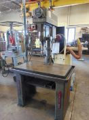PRODUCTION DRILL, CLAUSING MDL. 2286, variable spd., oil groove table, S/N 525019