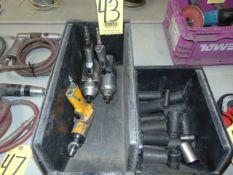 LOT OF PNEUMATIC IMPACT GUNS (3), w/ sockets, assorted