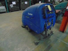 FLOOR SCRUBBER, CLARK ONCORE L28, battery pwrd. (out of service)