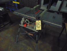 "TABLE SAW, CRAFTSMAN MDL. 315-218050, 10"" blade, S/N X054048185"