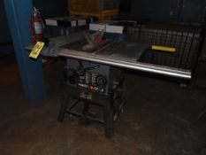 """TABLE SAW, PORTER CABLE, 10"""" blade, S/N 001160"""