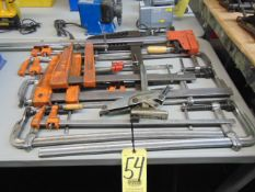 LOT OF BAR CLAMPS, assorted