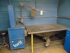 DOWNDRAFT FINISHING TABLE, w/integrated dust collector