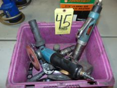 LOT OF PNEUMATIC SANDERS (4), assorted (in one box)