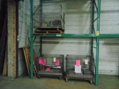 LOT CONSISTING OF: assorted wire backets, steel parts, cardboard boxes, Styrofoam sheets (in nine