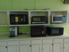 LOT CONSISTING OF: (5) microwave ovens & Keurig coffee maker