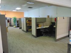 LOT OF OFFICE CUBICLES: total of (9) work stations (no paperwork or computers)