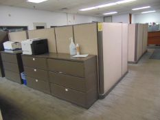 LOT OF OFFICE CUBICLES: total of (6) work stations (no paperwork or computers)