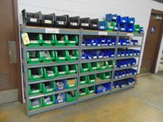 LOT CONSISTING OF: screws, nuts & fasteners, w/ rack, assorted