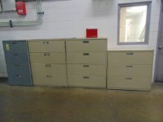 LOT OF LATERAL FILE CABINETS (5), assorted