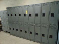 LOT OF LOCKERS, (60) doors total