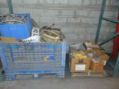 LOT OF CARDBOARD BOXES & MISC., assorted (in seven pallet racking sections) (no racks)