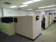 LOT OF OFFICE CUBICLES: total of (11) work stations (no paperwork or computers)
