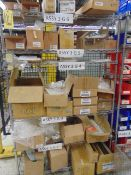 LOT CONSISTING OF: assorted fasteners, plastic bags & misc., w/ (7) assorted racks