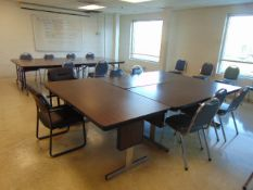 LOT CONSISTING OF: (11) folding leg tables & (27) chairs