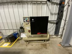 INGERSOLL RAND, UP6-TAS-125WDRY,10 HP, TANK MOUNTED, ROTARY SCREW AIR COMPRESSOR WITH AIR DRYER,
