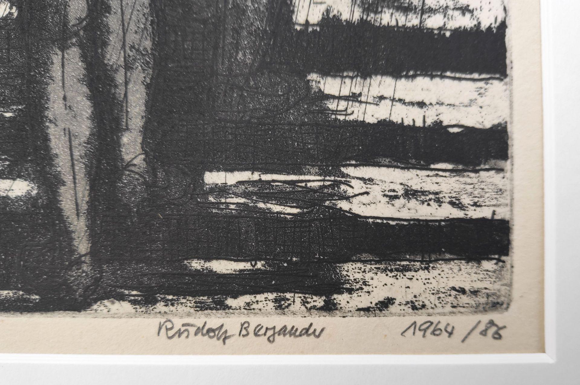 """Bergander, Rudolf (1909 Meißen – 1970 Dresden) """"Auf der Treppe im Regen"""" - Bild 3 aus 3"""