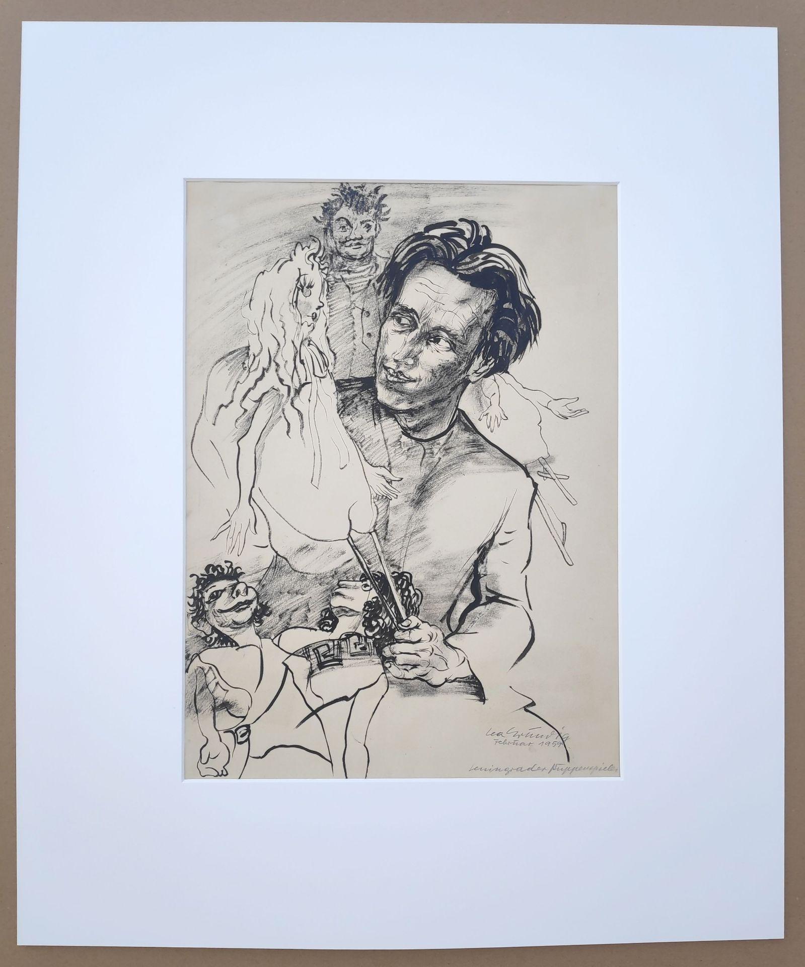 """Grundig, Lea (1906 Dresden - 1977 während einer Mittelmeerreise) """"Leningrader Puppenspieler"""" - Bild 2 aus 3"""