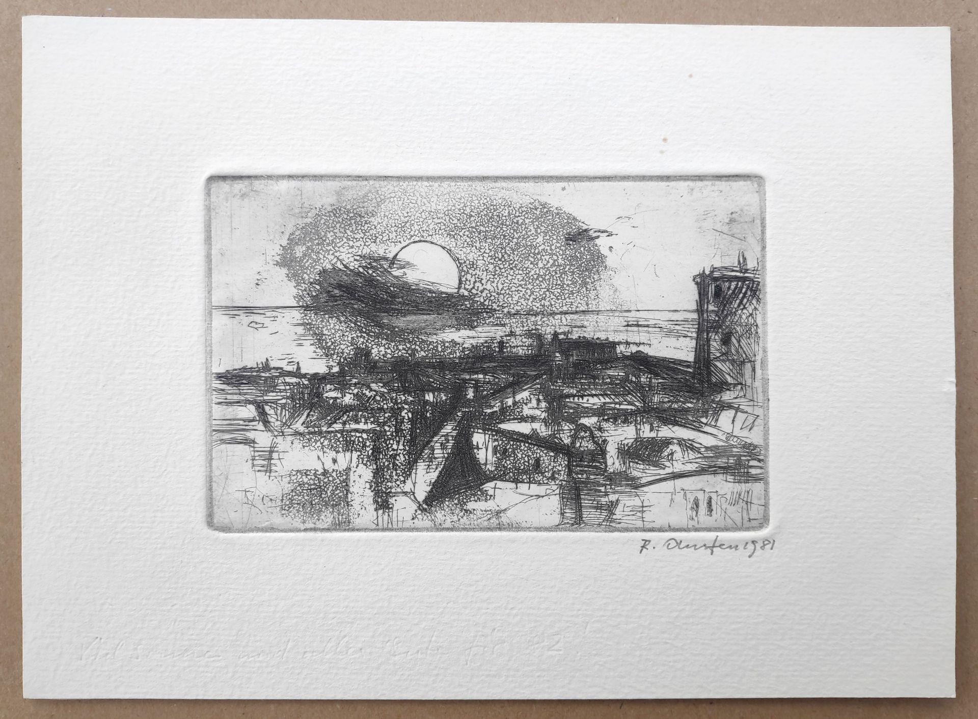 """Austen, Rudolf (1931 Hainspach – 2003 Rostock) 5 Radierungen: """"Kutter"""" (1985) / """"Steilküste"""" (1988) - Bild 2 aus 6"""