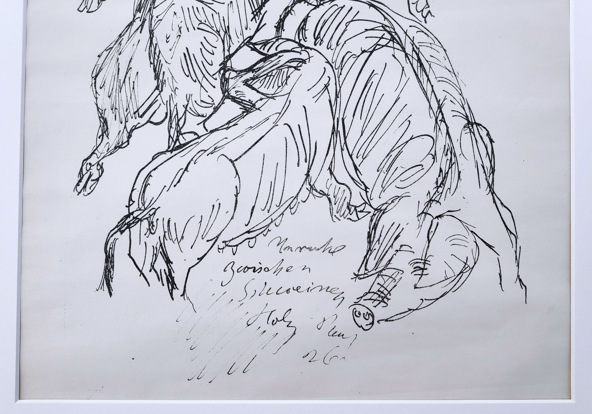 "Holz, Paul (1883 Riesenbrück bei Pasewalk - 1938 Schleswig) ""Unruhe unter Schweinen"" - Bild 3 aus 3"