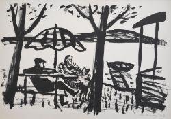 """Mohr, Arno (1910 Posen – 2001 Berlin) """"Berthold Brecht und Helene Weigel in Buckow"""""""