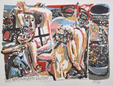 """Heisig, Bernhard (1925 Breslau – 2011 Strodehne) """"Die verbrauchten Götter"""""""