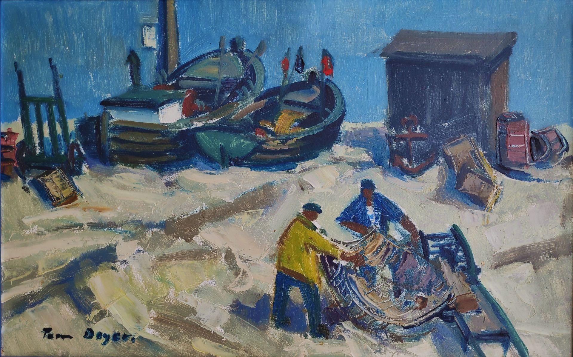 """Beyer, Tom (1907 Münster – 1981 Stralsund) """"Fischer bei der Arbeit"""""""