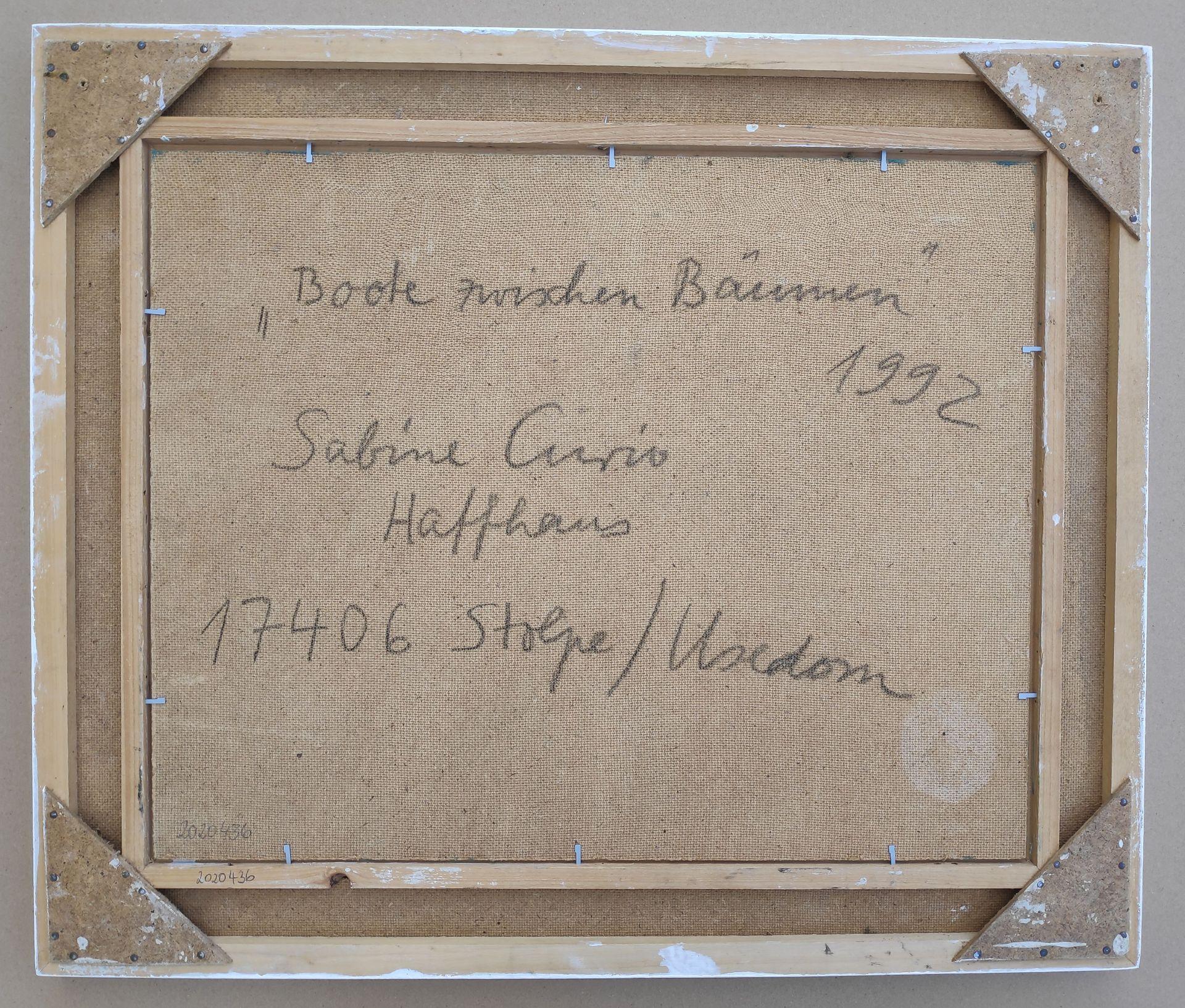 """Curio, Sabine (1950 Ahlbeck , lebt in Stolpe/Usedom) """"Boote zwischen Bäumen"""" - Bild 4 aus 4"""
