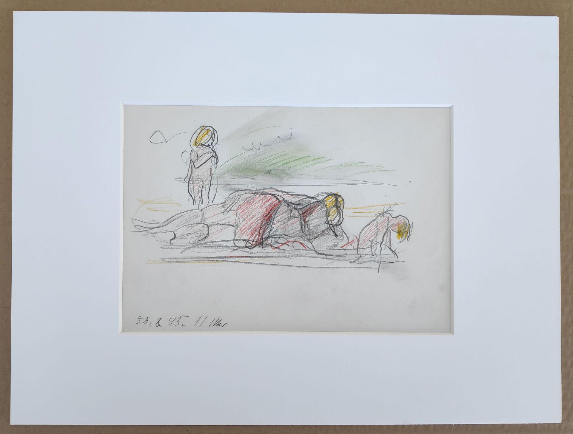 """Kliefert, Erich (1893 Berlin – 1994 Stralsund) """"Strandszene I"""" - Bild 2 aus 3"""