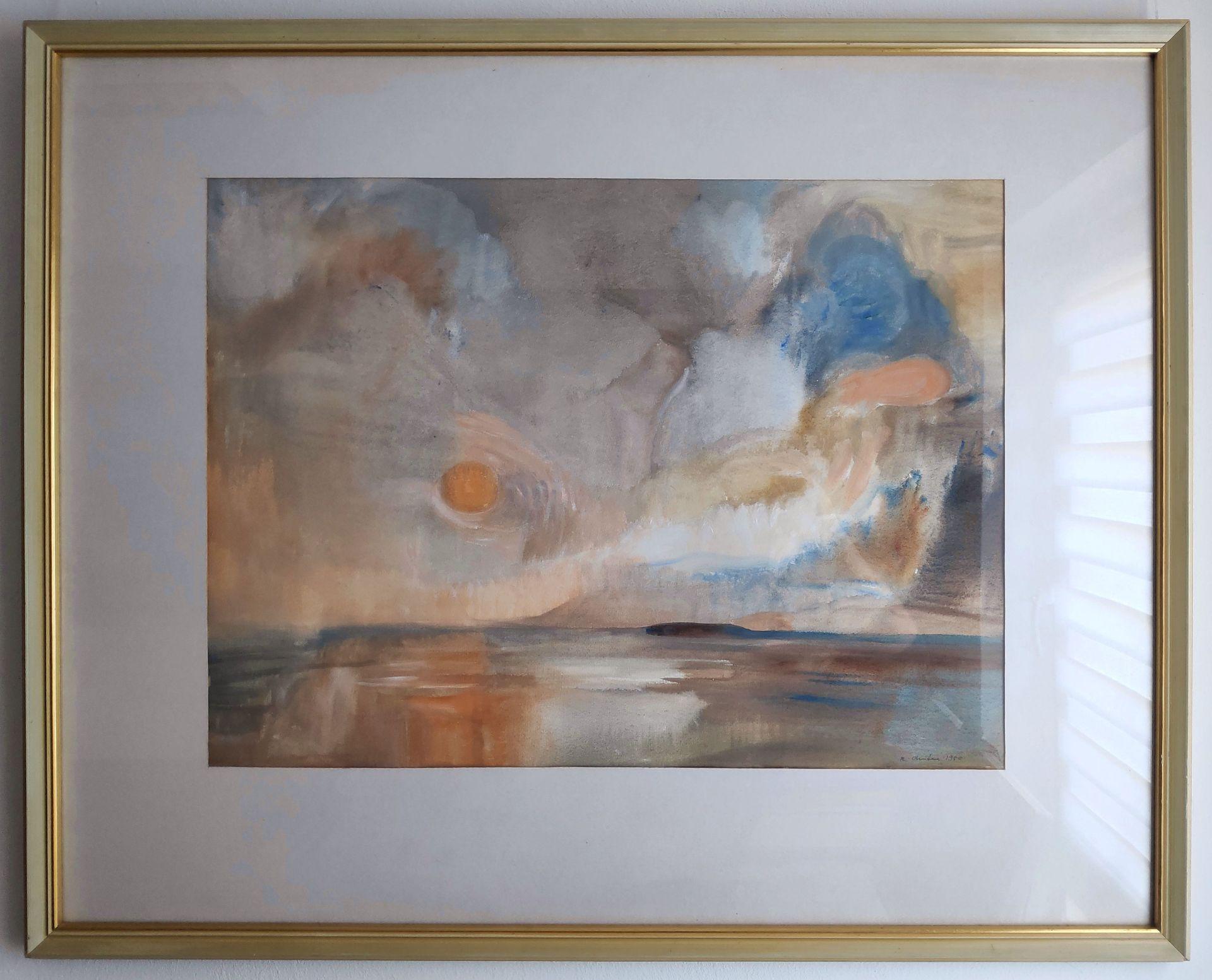 """Austen, Rudolf (1931 Hainspach - 2003 Rostock) """"Abendsonne über Boddenlandschaft"""" - Bild 2 aus 3"""