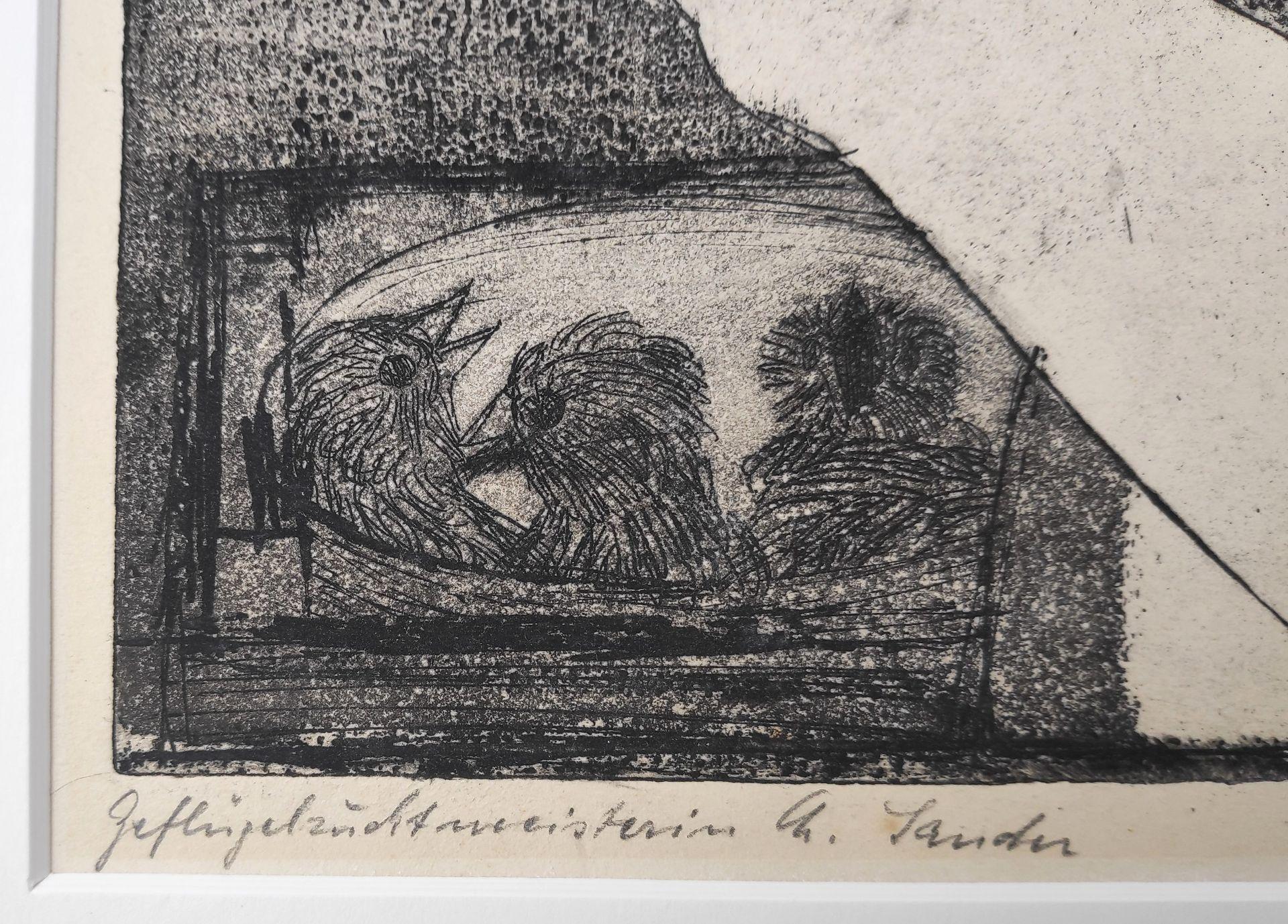 """Dittner, Sieghard (1924 Schneidemühl - 2002 Malchow) """"Geflügelzuchtmeisterin Ch. Zander"""" - Bild 4 aus 4"""
