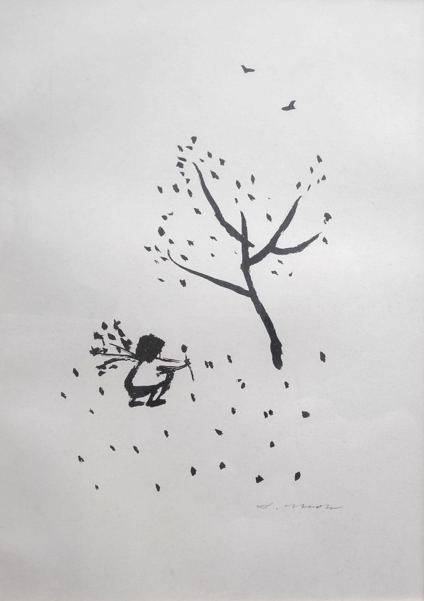 """Mohr, Arno (1910 Posen – 2001 Berlin) """"Blumenpflückendes Mädchen"""""""