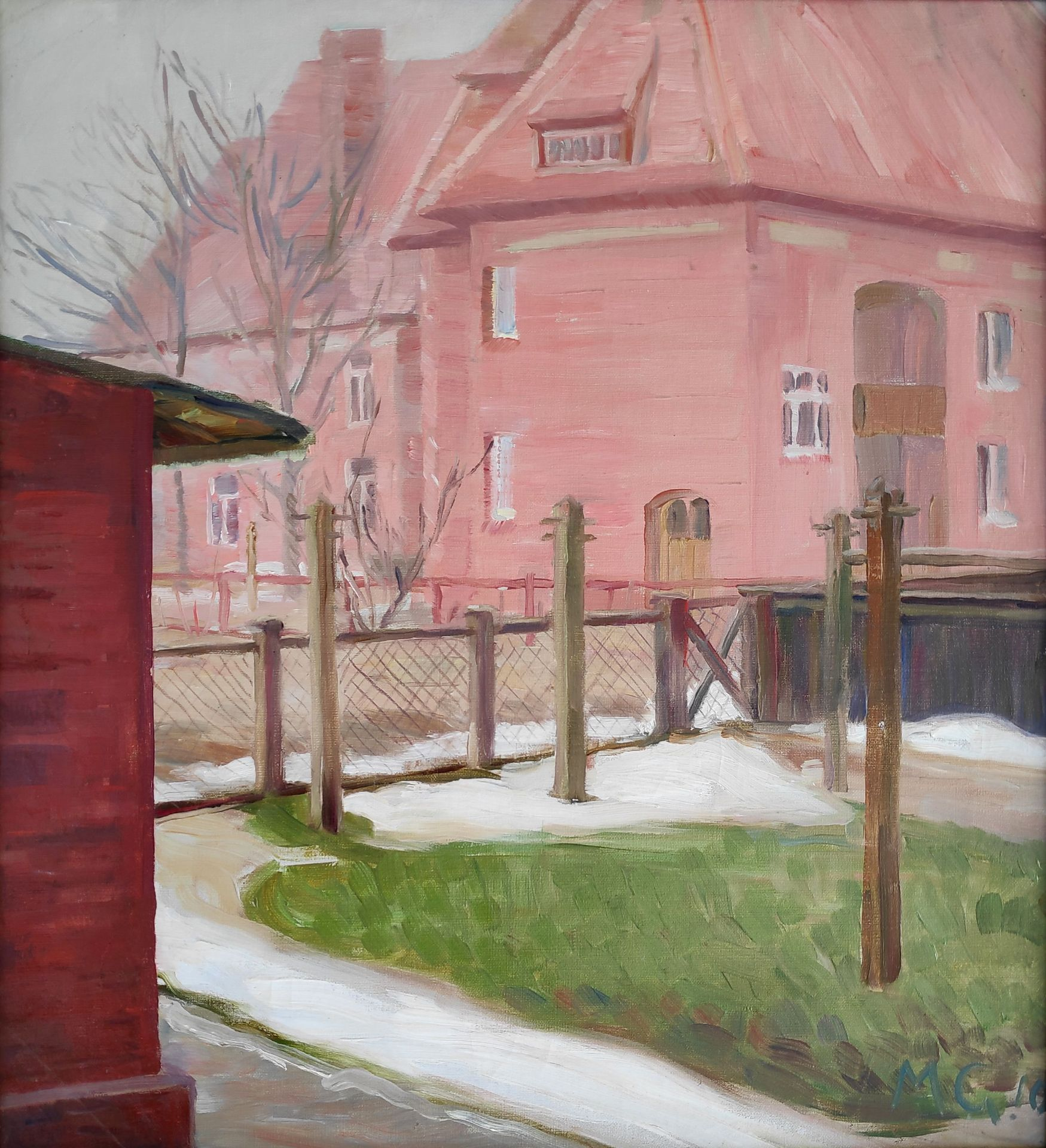 """Kliefert-Gießen, Mathilde (1887 Pries bei Kiel – 1978 Stralsund) """"Der Wäscheplatz"""""""
