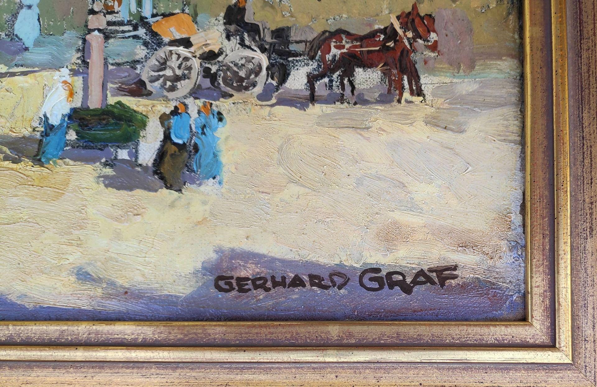 """Graf, Gerhard (1883 Berlin - 1958 Stockholm) """"Markt in Greifswald mit Blick auf St. Marien"""" - Bild 3 aus 3"""