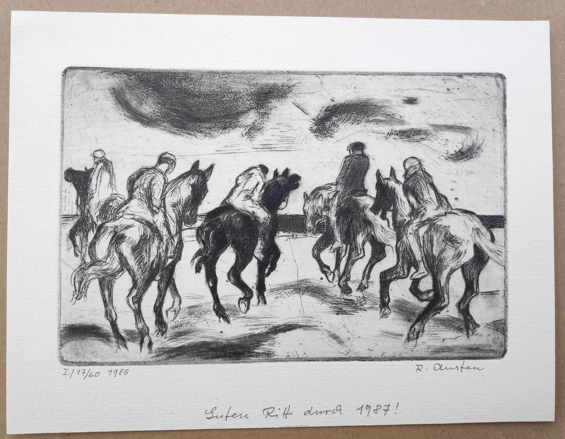 """Austen, Rudolf (1931 Hainspach – 2003 Rostock) 5 Radierungen: """"Kutter"""" (1985) / """"Steilküste"""" (1988) - Bild 6 aus 6"""