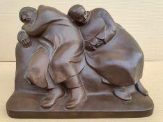 """Barlach, Ernst (1870 Wedel – 1938 Rostock) """"Schlafendes Bauernpaar"""""""