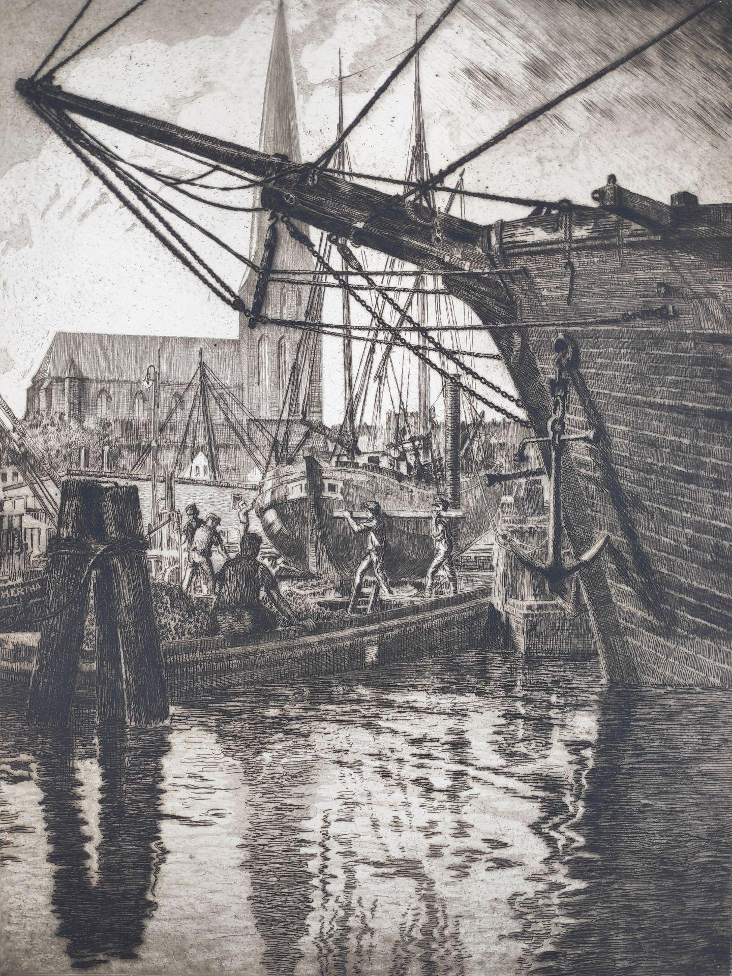 "Eulert, Arthur (1890 Rostock – 1946 Wismar) ""Seestadt Rostock – Am Petritor"""