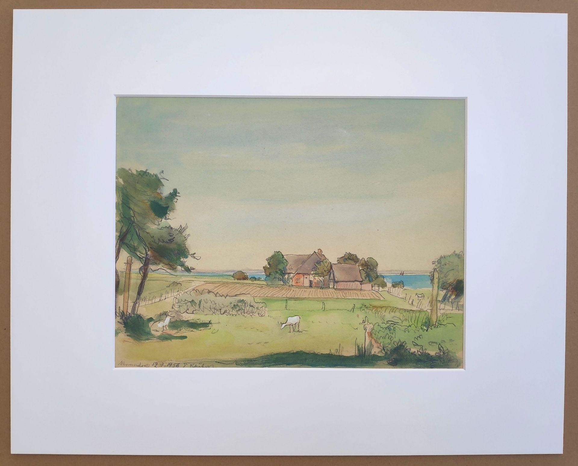 """Kliefert, Erich (1893-Berlin – 1994 Stralsund) """"Katen in Ahrenshoop"""" - Bild 2 aus 3"""