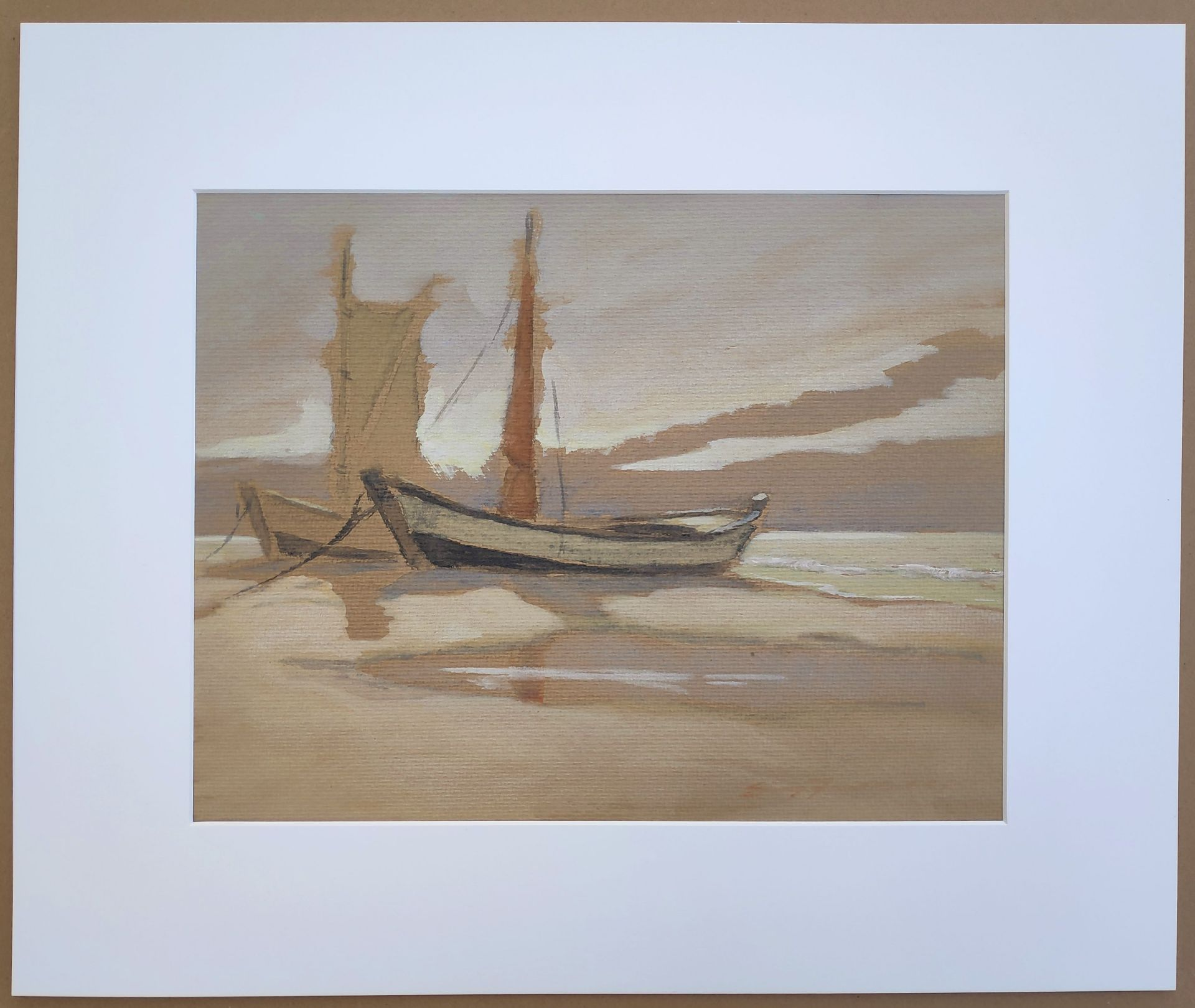 """Jaeckel, Erich (1901 Ahlbeck - 1947 Bansin) """"Zeesboote am Ostseestrand"""" - Bild 2 aus 5"""