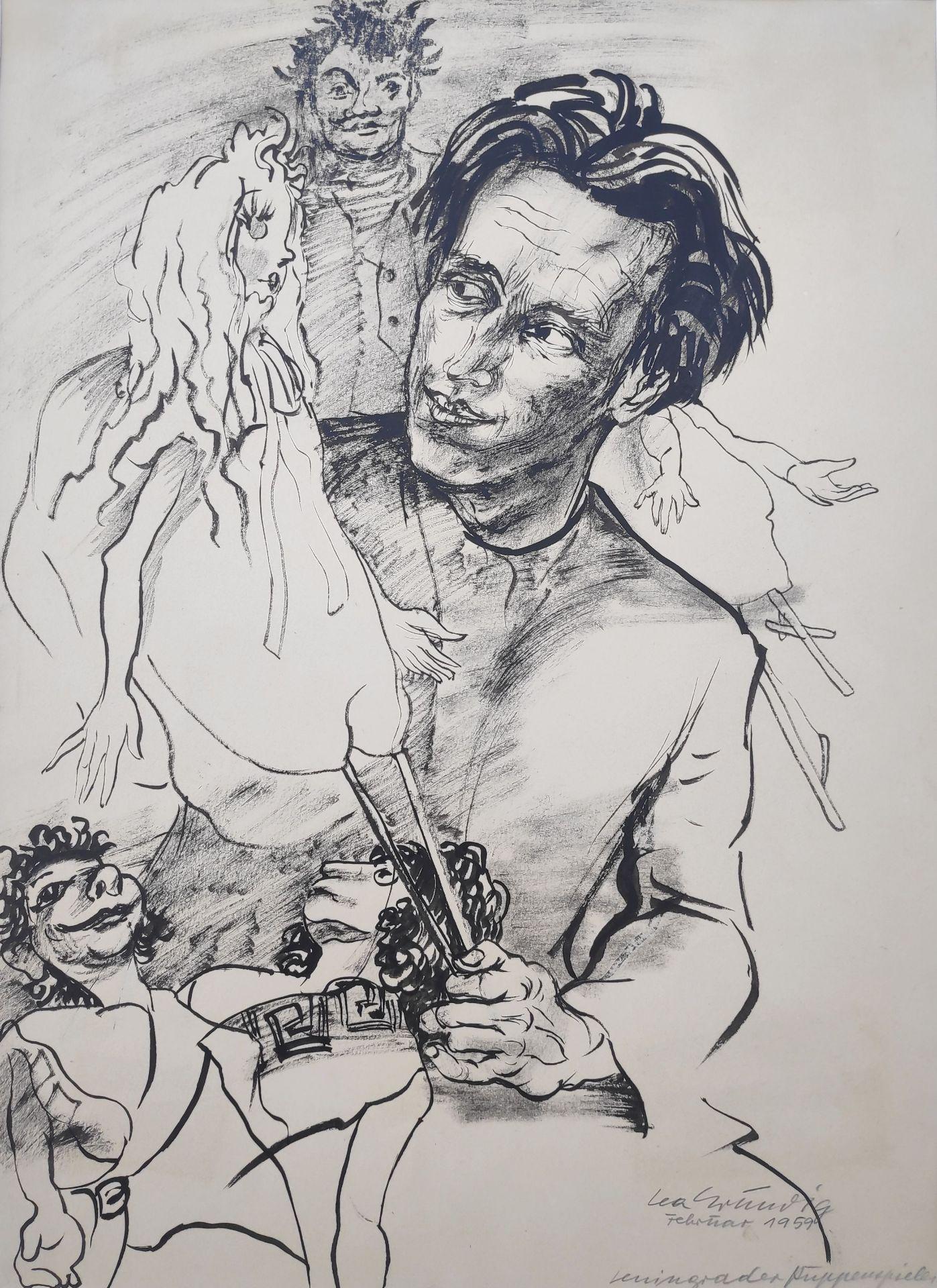 """Grundig, Lea (1906 Dresden - 1977 während einer Mittelmeerreise) """"Leningrader Puppenspieler"""""""
