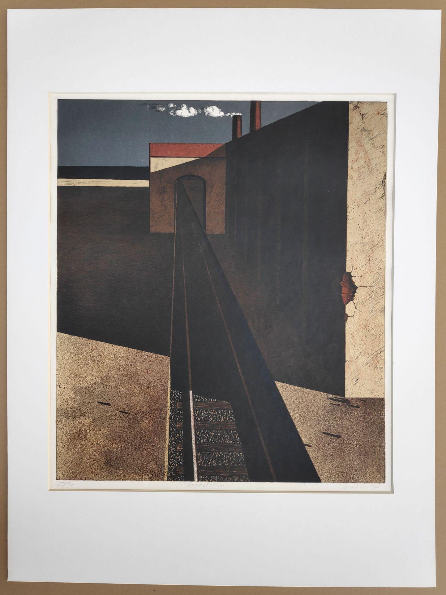 """Kastner, Manfred (1943 Gießhübel – 1988 Juliusruh) """"Grenzstation"""" - Bild 2 aus 3"""