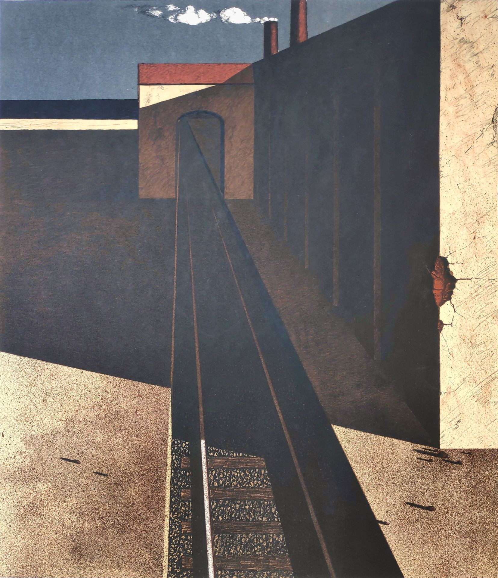 """Kastner, Manfred (1943 Gießhübel – 1988 Juliusruh) """"Grenzstation"""""""